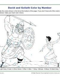 David And Goliath Color By Numbers Activity