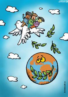 Today's cartoon: 'Peace Flight' by the SvitalskyBros.