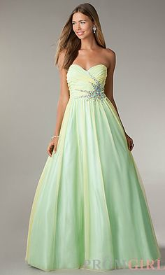 @Azure Cook    LA Glo Strapless Ball Gown at PromGirl.com