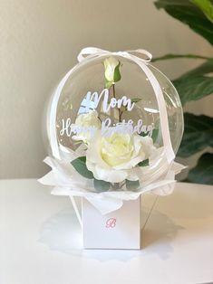 Balloon Box, Balloon Gift, Balloon Bouquet, Balloon Garland, Boquet, Clear Balloons, Bubble Balloons, Balloon Arrangements, Flower Arrangements