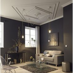 Moulure de plafond D101, polystyrène extrudé, 8 x 200 cm   Leroy Merlin