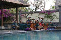 The gamalan band performing at the poolside      Wedding Ceremony at Villa Semadhi Pemuteran Bali