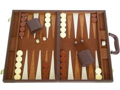 [PURCHASED 4/2013]  $50 Deluxe Backgammon Set - (15 Travel Case) - Brown by Silverman & Co., http://www.amazon.com/dp/B005F4JWL4/ref=cm_sw_r_pi_dp_4jXHrb1RXFA03