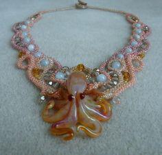 Beneath the Sea  Octopus Necklace by BeadedDreams8 on Etsy