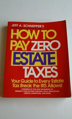 Tax help How To Pay Zero Taxes,17th Edition 2001 by Schnepper, McGraw Hill