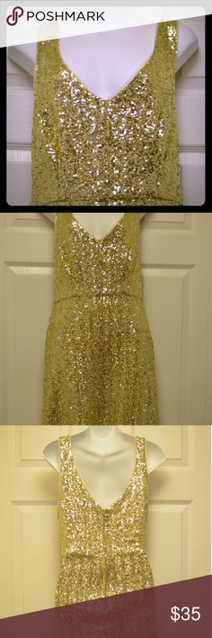 Gold Sequin Cocktail Dress This gorgous sequin dress has never been worn! It's made from 100% Nylon and 100% Polyester. It's perfect for a night out, or a special occasion. Dresses Mini