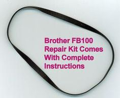 Brother FB100 drive belt repair kit with instruction sheet