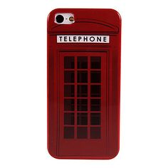 Retro Telephone Booth Hard Plastic Case Cover for iPhone 5/5S – USD $ 2.99