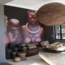 Os materiais naturais também prevalecem, entre eles a madeira e a palha, que podem estar presentes no mobiliário e também em peças decorativas como máscarasdecoracao com pecas africanas - Pesquisa Google