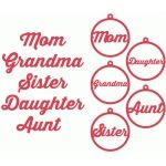 mom, grandma, sister tags