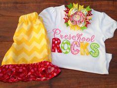 Back To School Shirt Preschool Kindergarten 1st by TwoSewinCute