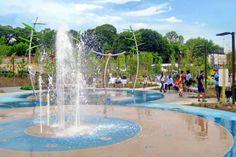 Visit the Historic Fourth Ward Park Splashpad while utilizing the Atlanta BeltLine!