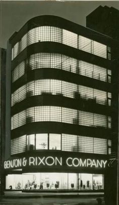 """The Benson and Rixon Department Store, 230 & 160 South State Street, 1937, Chicago. Designed by Alfred S. Alschuler, this amazing building still stands & you've probably never noticed it--it's  now a McDonald's.""--From the wonderful Calumet412.com.  A beautiful shot of one of the first buildings I looked for when I moved to the city. What a disappointment when I found it."
