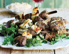Lamb, Mint and Halloumi Kebabs recipe