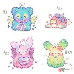 [CLOSED] Fluffbits #31 - #34 by Sarilain on DeviantArt