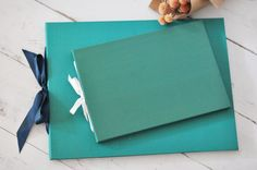 Teal Wedding Photo Guest Book