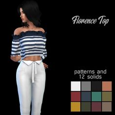 Leo 4 Sims: Florence top recolor • Sims 4 Downloads