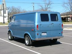 "In the fall of 1974, my husband bought a brand-new Ford Econoline van very similar to this, except it was cream-colored. We drove it ALL OVER this great land of ours, from sea to shining sea, and kept it 14 years, until it was very badly rusted out. I'll never forget learning to drive with a standard transmission in our van, learning to trust the bubble mirrors, and asking whoever was in the passenger seat to ""pull that mirror in a little bit, please. A little more. Perfect!"""