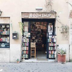 The Open Door Bookshop in Trastevere Rome