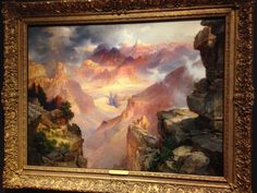 Thomas Moran's Grand Canyon of Arizona at Sunset Thomas Moran, Design Palette, Create Space, Grand Canyon, Arizona, Sunset, Nature, Painting, Art