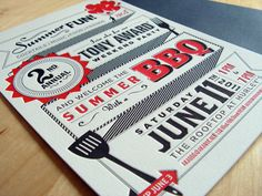 AKA Tony Award BBQ Invite by Eric Vasquez, via Behance