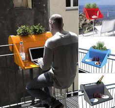 fantastic idea for a small balcony