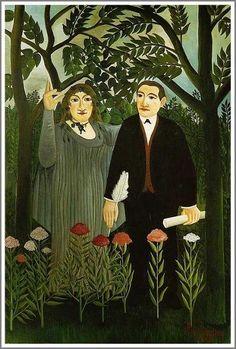 詩人に霊感を与えるミューズ    (La muse inspirant le poete) 1909年  144×114cm | 油彩・画布 | バーゼル市立美術館