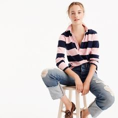 The 1984 rugby shirt in stripe : Women T-Shirts & Tank tops | J.Crew