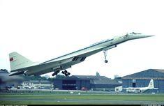 TU-144 at LBG 1973 a few moments before the crash
