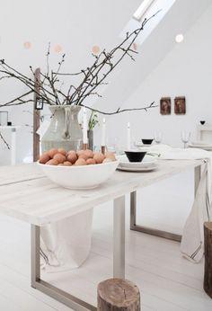 décoration, oeufs, pâques