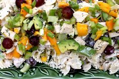 A Bountiful Kitchen: Mango Chicken Pasta Salad with Tarragon Lime Dressing