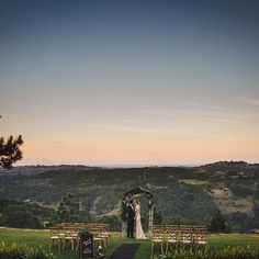 "That view! Gorgeous ceremony styling from Lovestruck Weddings at Summergrove Estate; for Gold Coast Wedding Weekly's ""All That Glitters"" styled shoot All That Glitters, Gold Coast, Happily Ever After, Improve Yourself, Wedding Ideas, Weddings, Mountains, Wedding Dresses, Travel"