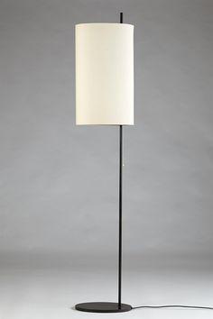 Arne Jacobsen; Enameled Metal 'Royal' Floor Lamp for Louis Poulsen, 1956.