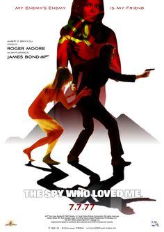 'The Spy Who Loved Me' - Teaser 4 George Lazenby, Spy Who Loved Me, Timothy Dalton, Pierce Brosnan, Roger Moore, Bond Girls, Sean Connery, James Bond, Teaser