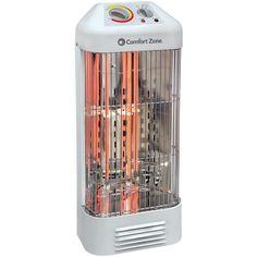 COMFORT ZONE CZQTV6 Quartz Deluxe Fan-Force Heater