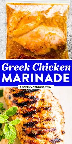 This Greek-inspired marinade is one of my favorites. Perfect for summer grilling, but also for year-round indoor cooking. You can bake the chicken in the oven or cook it on the stove, either way, it's delicious. | #grilling #grillingrecipes #easydinner #easydinnerrecipes #chickenrecipes #chickenfoodrecipes #easychickenrecipes #chickendinner #dinnerideas #easyrecipes #easyrecipesforbeginners Duck Recipes, Potluck Recipes, Delicious Dinner Recipes, Grilling Recipes, Veggie Recipes, Summer Recipes, Beef Recipes, Appetizer Recipes, Real Food Recipes