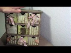 Kaisercraft 9 drawer tutorial, LOVE the way she did the embellishments and decorated this!