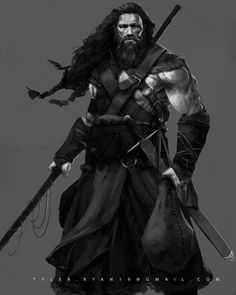 Viking Hunter , Tyler Ryan on ArtStation at https://artstation.com/artwork/viking-hunter