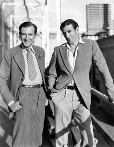 Gary Cooper with photographer Cecil Beaton.