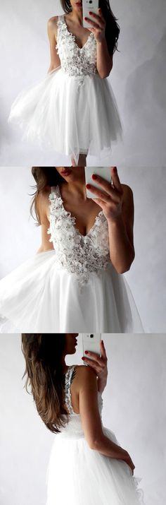 homecoming dresses,short homecoming dresses,cheap homecoming dresses,white homecoming dresses,lace homecoming dresses,v-neck homecoming dresses,