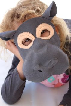 You're going to love Felt Hippo mask sewing pattern by designer Ebony Shae. Hippo Costume, Lion King Costume, Sewing Projects For Kids, Sewing For Kids, Sewing Ideas, Sewing Basics, Sewing For Beginners, Animal Masks For Kids, Hippopotamus For Christmas
