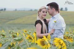 Sunflowers engagement