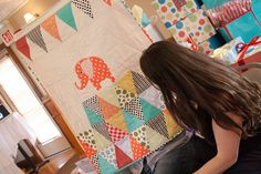 Handmade circus quilt! ..... a simple contemporary alternative