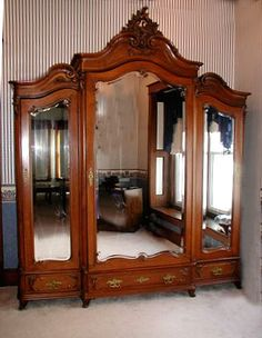 Antique French Victorian Walnut Armoire...I am in raptures!!!LOV