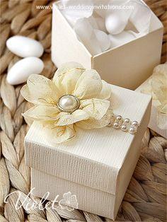 "Flora"" Wedding Bomboniere, Violet Handmade Wedding Invitations"