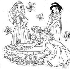 Princesas da Disney desenhos para colorir imprimir e pintar ...