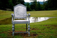 Forest Friends Silver Chair by SallyStitchez on Etsy, $225.00