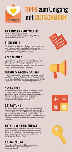 Infografik zur Kundenbindung durch Gutscheine: Tipps & Vorteile für den Einzelhandel. Auflistung und Infografik.