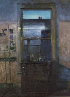 Fred Cuming (British, b. 1930) - Studio Window, 1986 - Oil painting