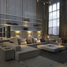Repurposed industrial space.  Interior design by Joan Lao